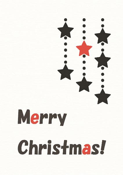 冬の白黒赤絵本『メリークリスマス!』