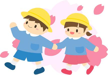 幼稚園児のフリーイラスト(イラストAC/ふわぷか)
