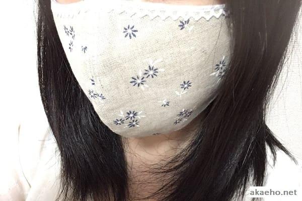 すずめ屋さんの布マスク
