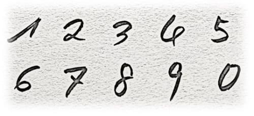 ヨーロッパ式 数字