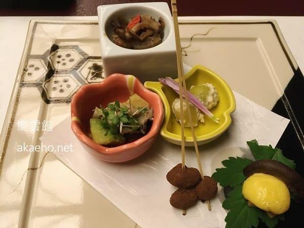 慶雲館夕食-前菜