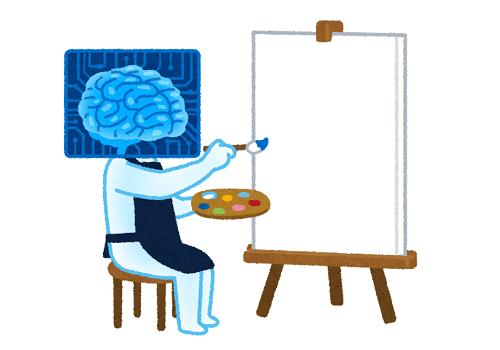 絵を描く人工知能-イラスト:いらすとや