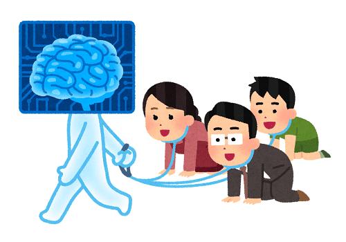 「AIに支配される人達のイラスト」-いらすとや