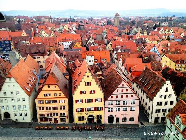 ローテンブルク 市庁舎の塔からの眺め