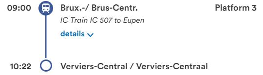 ブリュッセル中央駅~ヴェルヴィエ中央駅