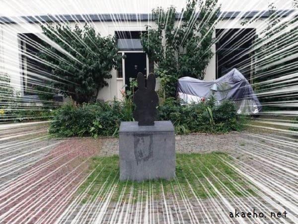 ミッフィーの銅像