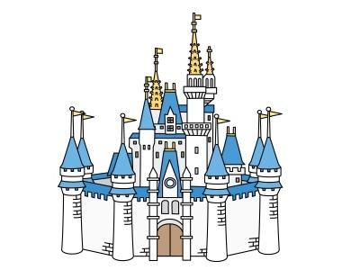 シンデレラ城のイラスト