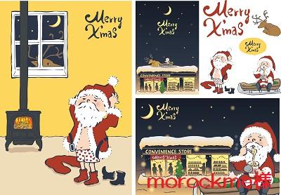 クリスマス サンタ カード