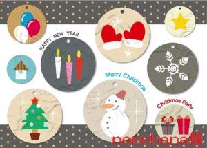 クリスマスの可愛いイラストセット-フリー素材