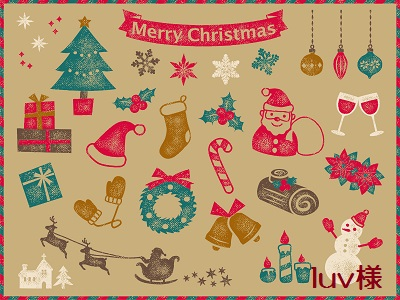 クリスマス スタンプセット