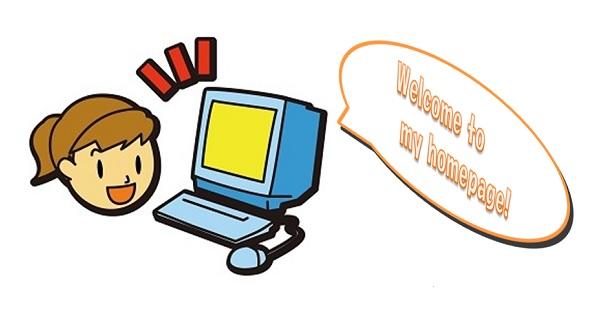 パソコンと女の子のフリーイラスト