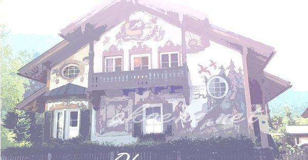 ドイツ-オーバーアマガウの民家